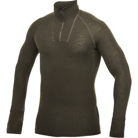 Woolpower Lite Zip Turtle Neck pine green